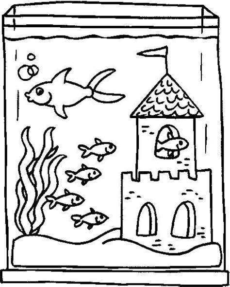 free coloring pages of the life of the aquarium