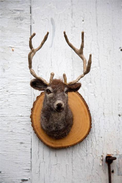 fake deer needlefelted minature faux deer mount