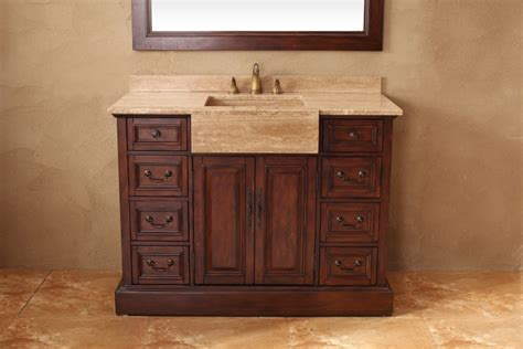 sink 48 inch bathroom vanity 48 inch single sink bathroom vanity in cherry