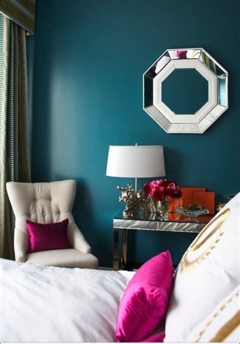 magenta bedroom teal and cream with silver and magenta accents bedroom