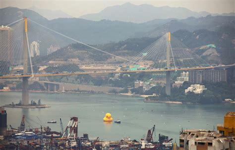 porto di hong kong wall stickers la paperella gigante nel porto di hong kong