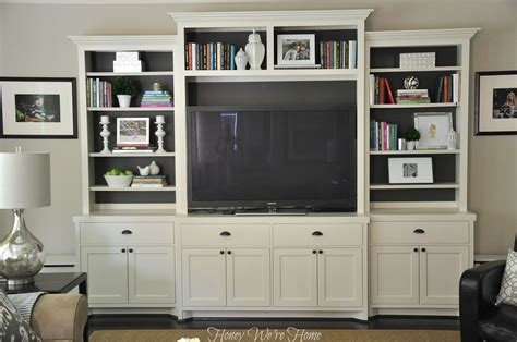 ikea entertainment center hack painted media cabinet bookshelf styling honey we re home