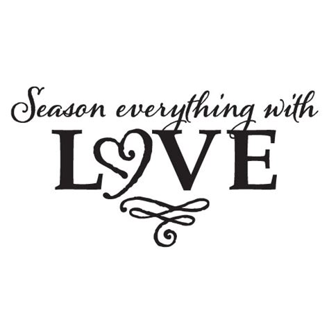 Mint Green And Red Kitchen - season everything with love vinyl wall decal kitchen blessing sticker
