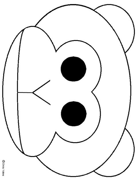 printable monkey mask template monkey mask monkey and masks on pinterest