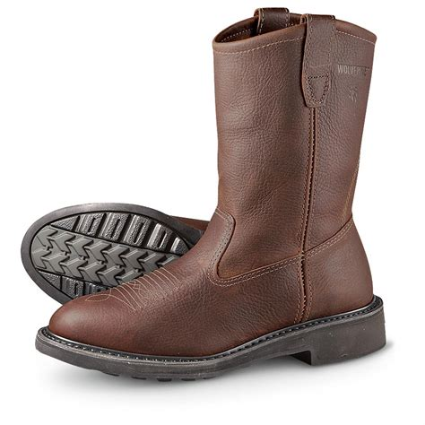 s wolverine 174 durashocks 174 10 quot tremor pull on boots