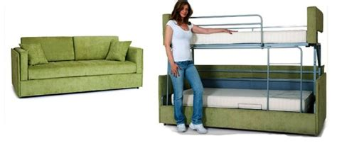 coupe sofa turns into a comfy bunk bed in just 14 seconds
