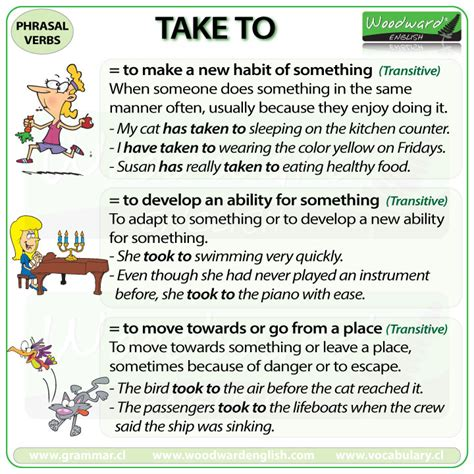 60 useful phrasal verbs with take with meaning and take to phrasal verb meanings and exles woodward