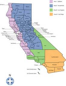 map of california regions california dsa regions map