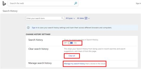 Can See My Search History Search History View Clear And Delete
