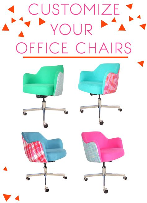 colorful office chairs customizing vintage chairs emily henderson
