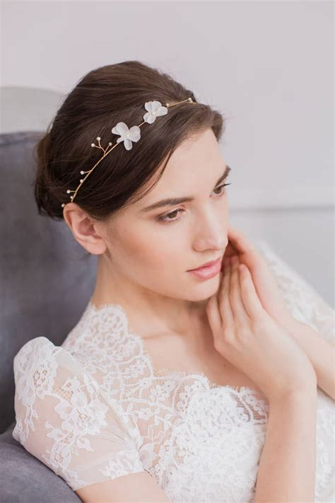 Silk Flowers Hair Wedding by Silk Flower Wedding Hair Vine In Gold Or Silver By Britten