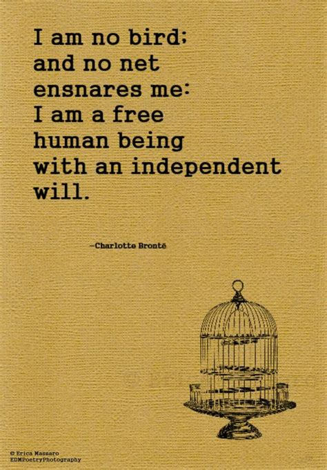 i am no bird charlotte bronte quote jayne eyre