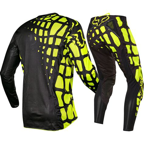fox racing motocross gear fox racing 2017 mx 360 grav black flo yellow jersey