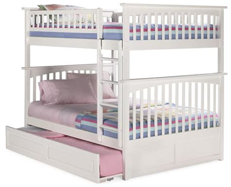 full over full bunk beds with trundle triple bunk beds for kids made by atlantic furniture