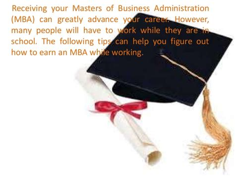 How To Do An Mba While Working how to earn an mba while working