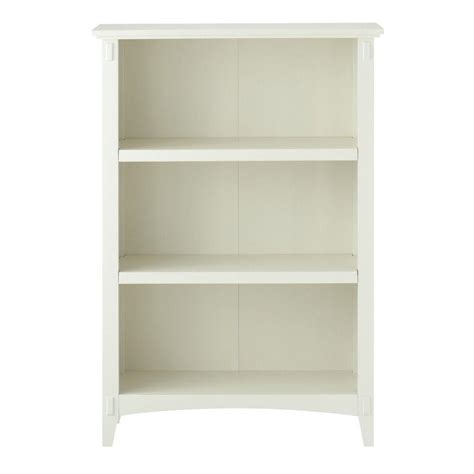 Home Decorators Collection Artisan White Open Bookcase Wide White Bookcase