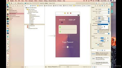 design form xcode apply your design to xcode login form design youtube