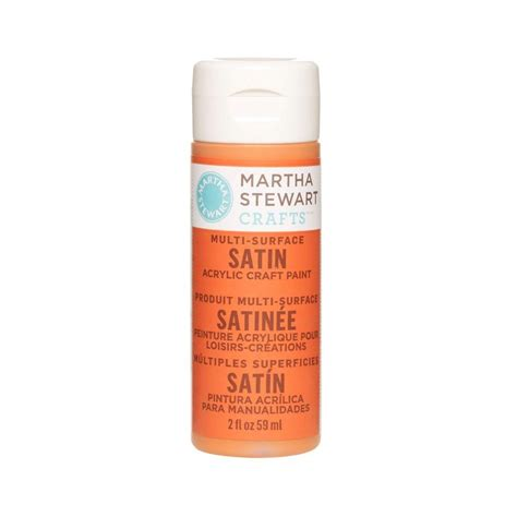 acrylic paint martha stewart martha stewart crafts 2 oz carrot multi surface satin