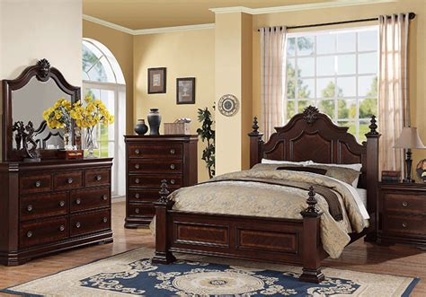 bedroom furniture charlotte nc charlotte dark cherry queen bedroom set cincinnati