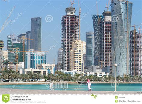 Mba Colleges In Qatar Doha by Doha Il Qatar Paesaggio Urbano Immagini Stock
