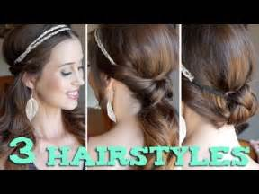 hairstyles using hairbands for 3 easy back to school hairstyles using a headband youtube