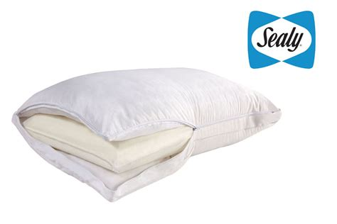 sealy posturepedic bed pillows sealy posturepedic comfort cover and memory core bed pillow