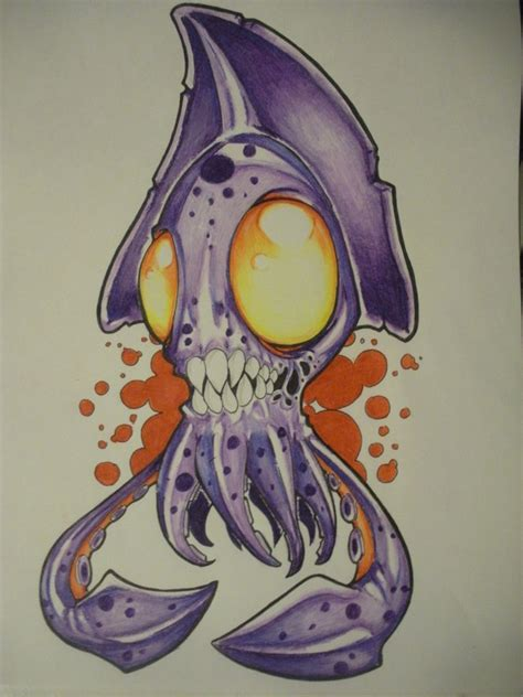 zombie squid by the ozzman on deviantart