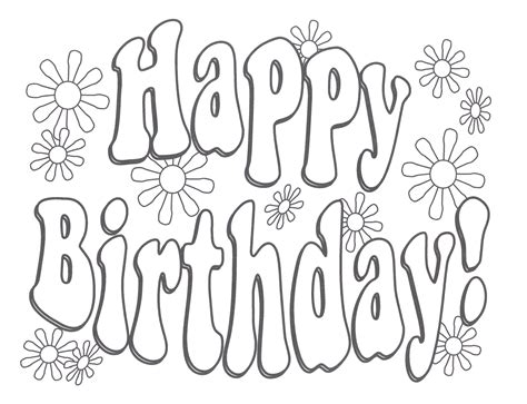 printable coloring pages happy birthday mom happy birthday clering sheet birthday coloring pages