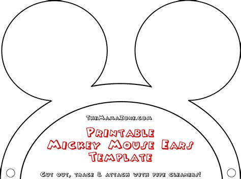 minnie mouse ear template free mickey mouse ears template the zone