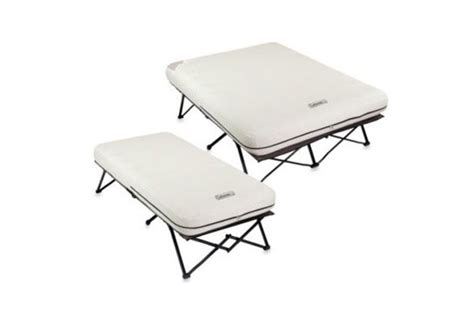 Coleman Cing Table by Coleman Airbed Cot With Side Tables The Best Air In 2017