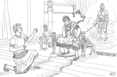 Daniel 3 Coloring Page by Daniel Interprets Nebuchadnezzar S Coloring Page
