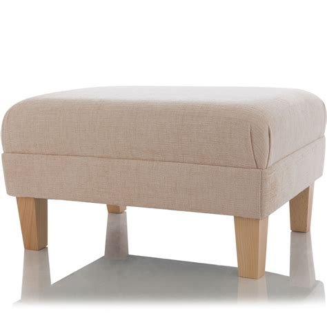 Ottoman Footstool New Footstool Ottoman Foot Rest Small Large Pouffe Fabric Stool Ebay