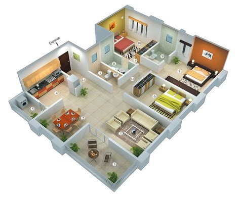 3d home design easy to use best 25 3 bedroom house ideas on