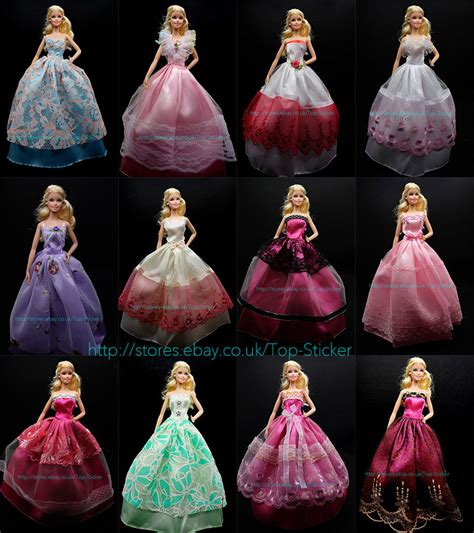 Handmade Disney Princess Dresses - 1x dress wedding clothes gown for disney princess