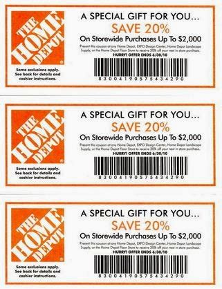 home depot discounts coupon codes