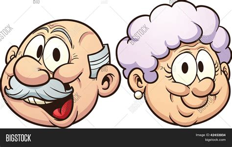 clipart nonni grandparents vector clip vector photo bigstock