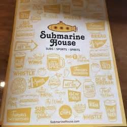 submarine house menu submarine house sports bars 5376 taylorsville rd