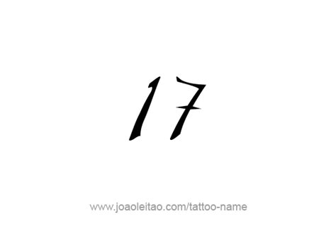 seventeen 17 number tattoo designs tattoos with names