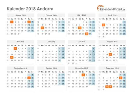 Andorra Kalendar 2018 Feiertage 2018 Andorra Kalender 220 Bersicht