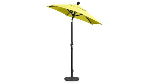 Black Patio Umbrellas On Sale 6 Sunbrella 174 Sulfur Patio Umbrella With Tilt Black Frame In Patio Umbrellas Crate And