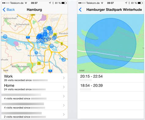 can work track my iphone history a closer look at frequent locations in ios 7
