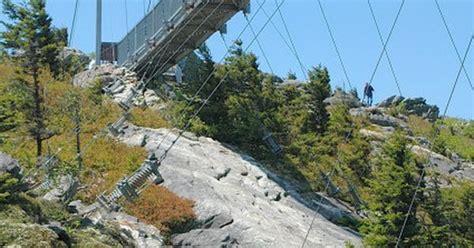 mile high swinging bridge blowing rock nc swinging bridge at grandfather mt the great smokey