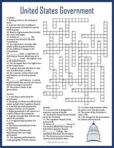 us government crossword puzzle early finishers
