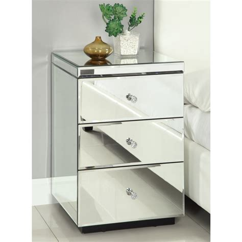 Bedside Tables And Dressers Mirrored Bedside Tables Dresser Package Mirror Furniture