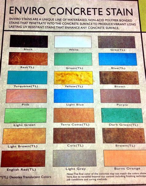 behr concrete stain colors behr semi transparent concrete stain color chart
