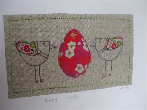 Handmade Easter - handmade easter card by caroline watts embroidery