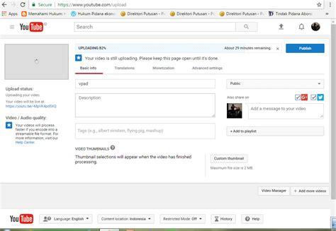 cara me upload video di youtube cara resume upload video di youtube always try and learn