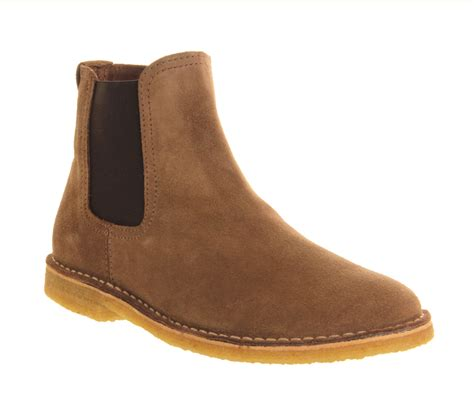 mens ask the missus cookie chelsea boot beige suede boots