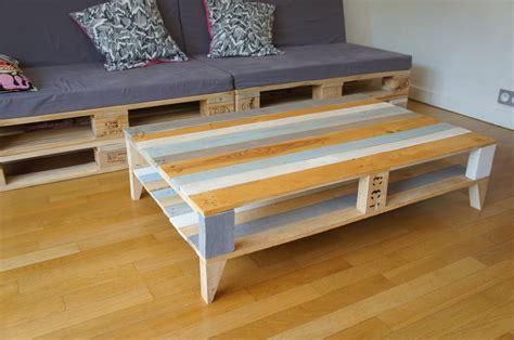 grande table basse vintage en bois de palettes recycl 233 es