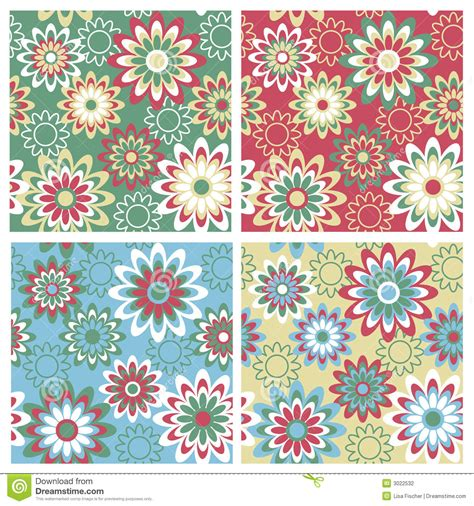 a seamless repeating retro floral floral pattern winter stock photography image 3022532
